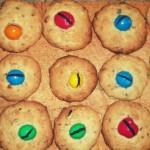M&M's na ciasteczkach