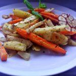 Pieczone warzywa z sosami