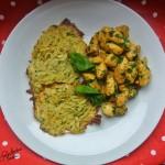 Kurczak curry z placuszkami ziemniaczano-cukiniowymi