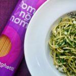 Spaghetti ze szpinakiem, gorgonzolą i twarożkiem wędzonym #omnomnom